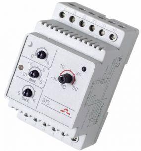 Devi терморегулятор Devireg 316, -10°C-+50°C , с датчиком на проводе.
